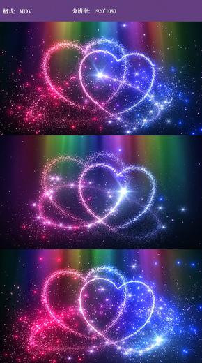 唯美爱心粒子视频