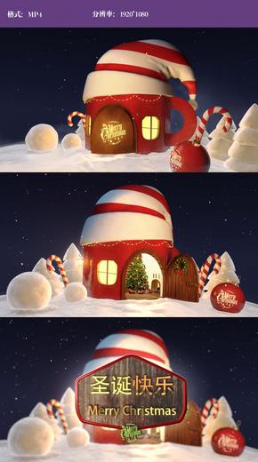 3D卡通圣诞节视频