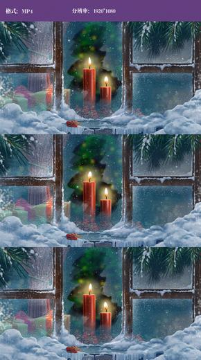 唯美圣诞雪景视频