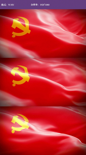党旗飘扬视频