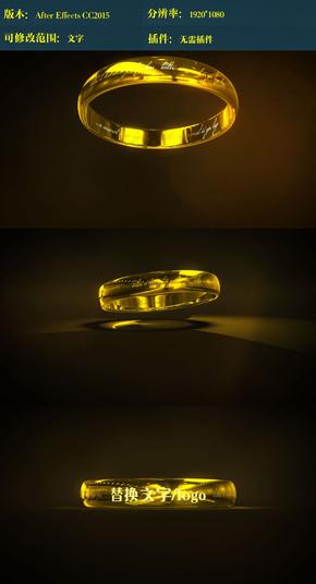 金色戒指婚礼ae模板