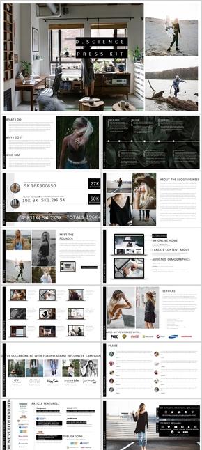 21页摄影图片展示key模板