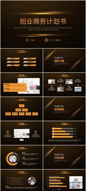 创业商务计划书PPT模板