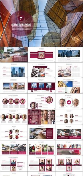 企业介绍商务策划汇报经验交流PPT模版