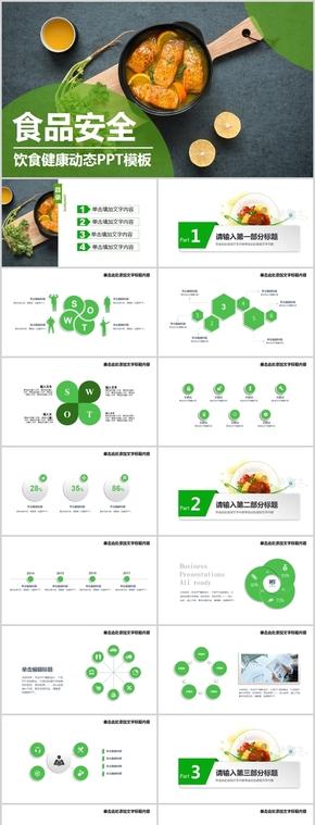 绿色食品健康安全动态PPT模板