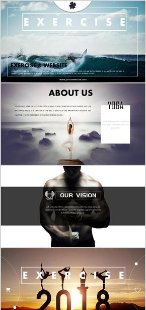 【健身养生瑜伽】高端高档会所活动宣传通用PPT模板