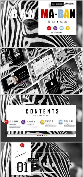 我们不一样 斑马斑马 黑彩纷呈 艺术设计 创意无限 商务通用模板