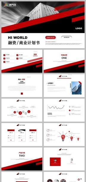 大气高端红色品牌计划公司宣传融资创业商业计划书