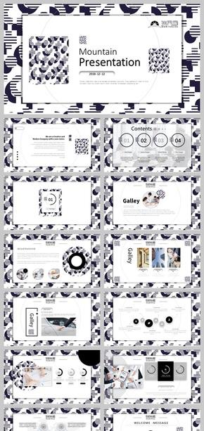 创意黑白设计!高端商务艺术模板 工作汇报计划总结产品展示 简历答辩 小清新画册展示