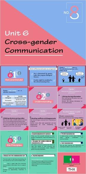 cross-gender communication跨性别男女沟通对比跨文化交流学生会喜欢的课件
