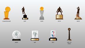 NBA奖杯矢量素材