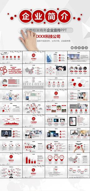 红色大气公司简介公司宣传企业介绍企业宣传项目投资合作产品发布路演动态ppt模板