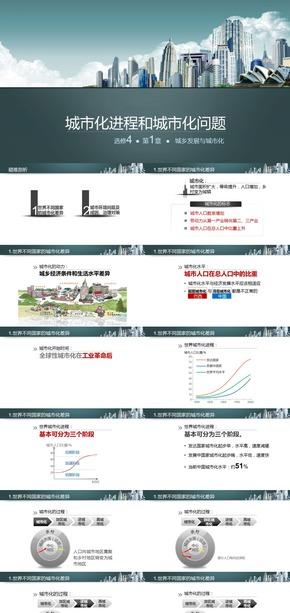 选修4城乡规划《微专题1.城市化进程和城市化问题》课件