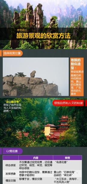 选修3旅游地理《微专题3.旅游景观的欣赏方法》课件【田俊】