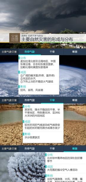 选修5灾害地理《微专题1.主要自然灾害的形成与分布》课件
