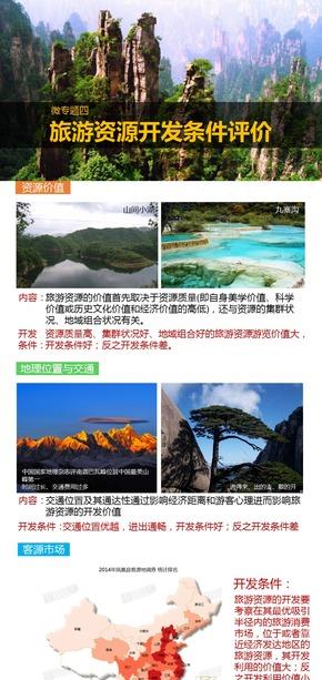 选修3旅游地理《微专题4.旅游资源开发条件的评价》课件【田俊】
