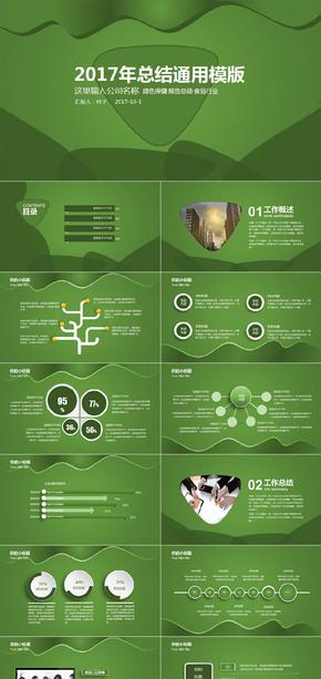 绿色企业总结汇报PPT模版