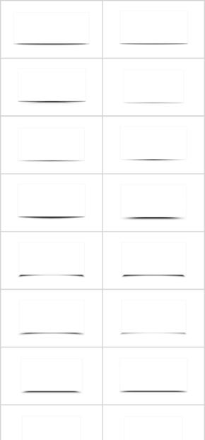 最全的PPT阴影图框、文字框、纸面