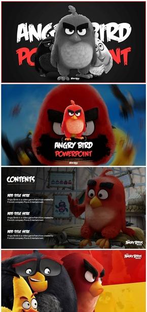 精美愤怒的小鸟主题PPT作品