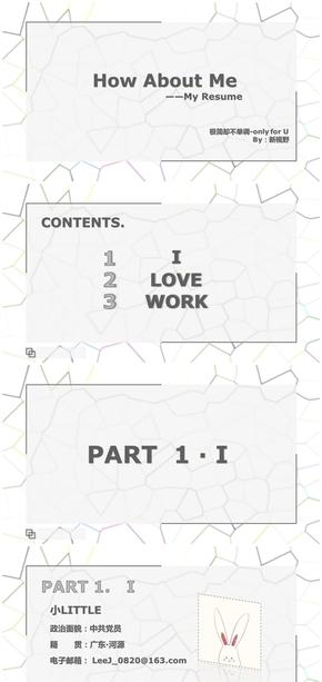 项目工程师个人简历PPT模板