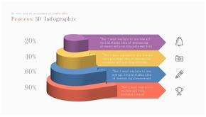 三维立体层次层级PPT图形(共1页)