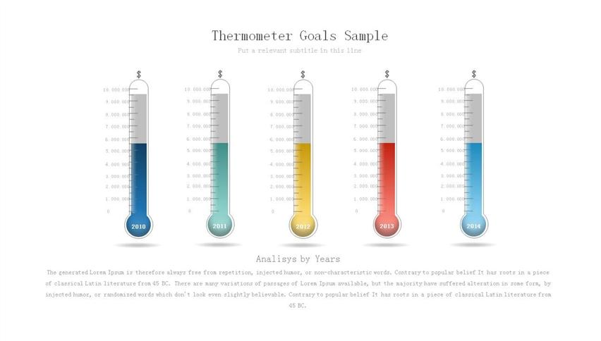 作品标题:创意温度计形ppt柱形图