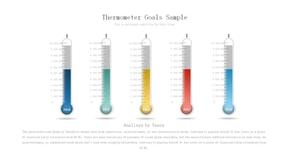 创意温度计形PPT柱形图