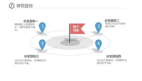 红旗四个目标罗列PPT模板(共1页)