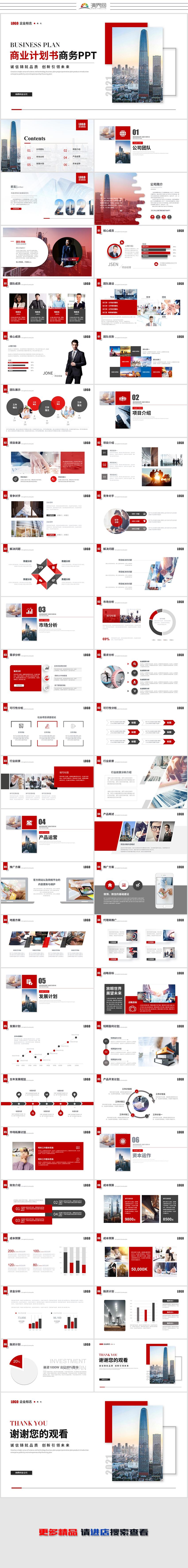 大氣簡約商務商業計劃書公司介紹產品介紹產品融資計劃書ppt模板