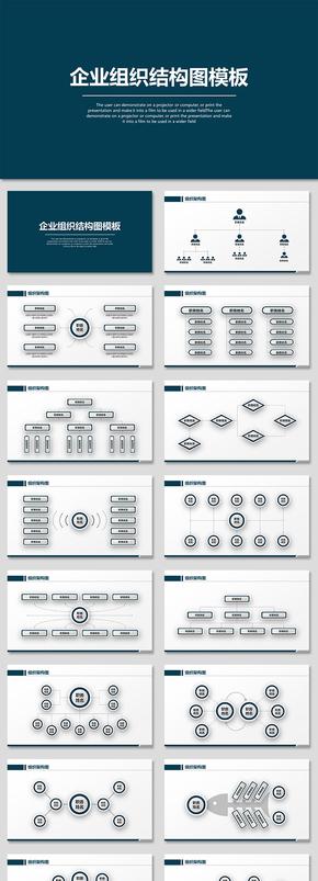 简约公司企业组织结构图骨架图流程图图表图表