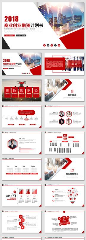 大气高端商业计划书创业融资项目投资产品发布商业路演企业介绍