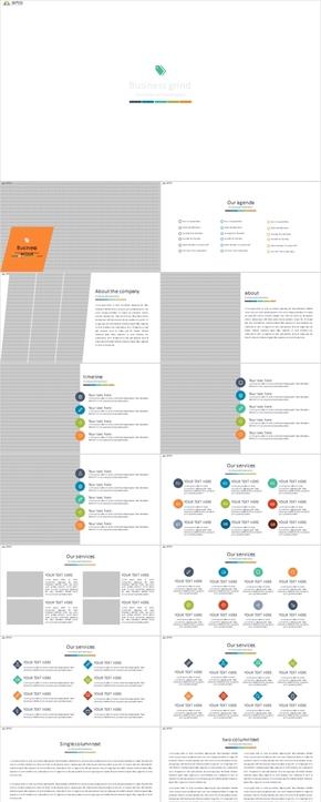 欧美风商业计划书公司介绍PPT