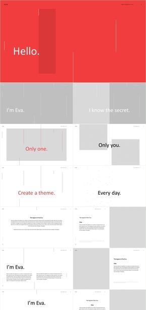 创意手绘黑白 工作汇报 计划总结