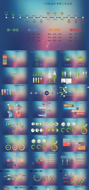 61.极品流程图,图标 微粒体总结汇报模板