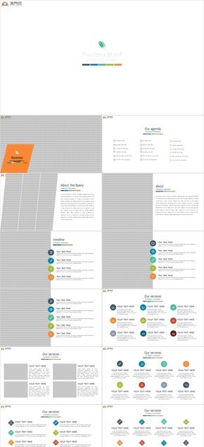 动态立体拼接商务KEYNOTE模板
