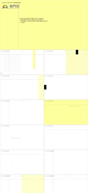 【KEYNOTE模板】2019至美时尚简约商务模板