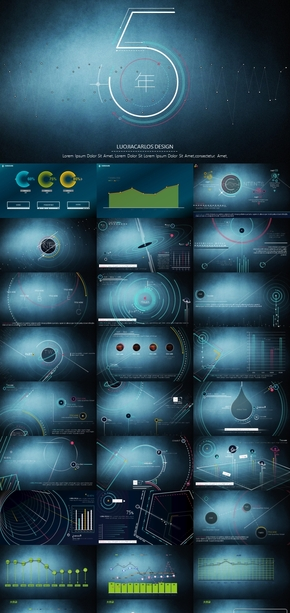 3.极品总结,科技蓝色,质感无敌,经典感,历史感,汇报,月报极品