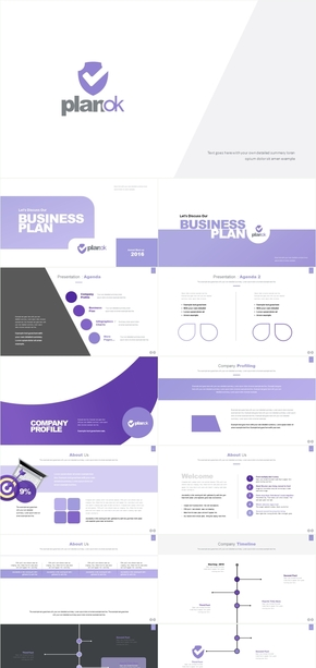 灰紫色高级工作总结产品发布