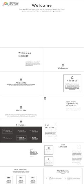 多彩清新扁平化通用模板 ISO风格苹果风格模板女