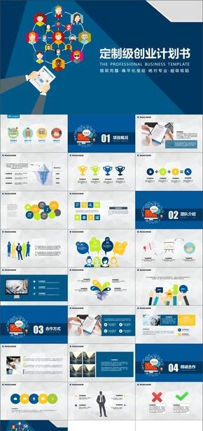 [紫尚作品]034商业计划书模板创业融资商业计划书PPT模板