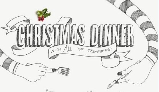 [演界信息图表]黑白手绘-圣诞节晚餐