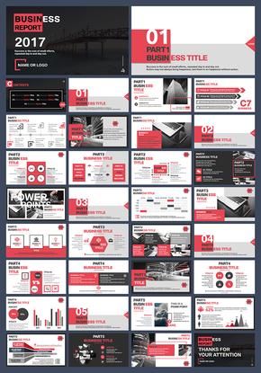 黑红白商业欧式简约化ppt模板