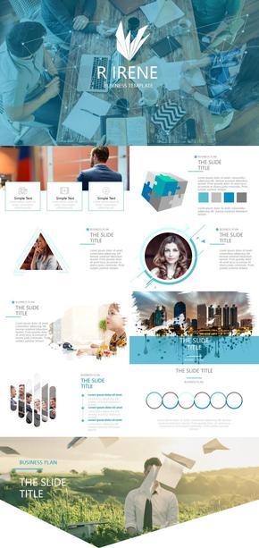 商务人物图片排版PPT模板