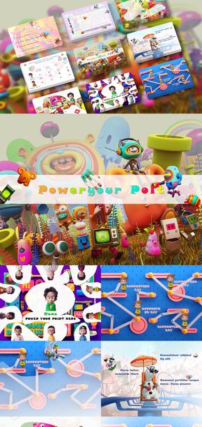 卡通版|英语课件|幼教|儿童教育|PPT模板