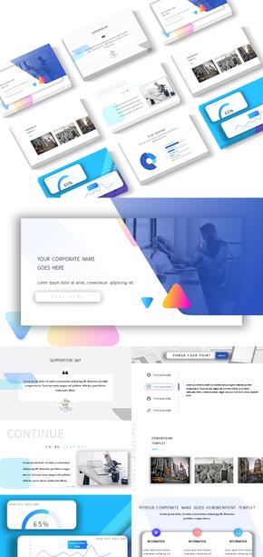 商务风格|UI视觉设计|总结汇报|亮色|鲜艳搭配|PPT模板