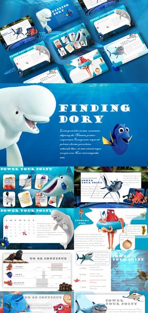 海底总动员|卡通风格|海底世界|海洋|PPT模板