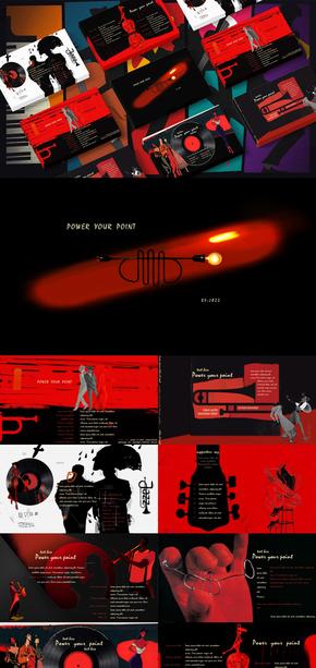 上世纪|复古风|爵士乐|PPT模板
