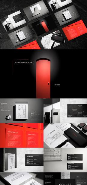 建筑设计|室内装修|图纸|PPT模板