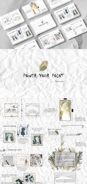 装饰画|毕业作品|展示|毕业答辩|绘画|画作|PPT模板