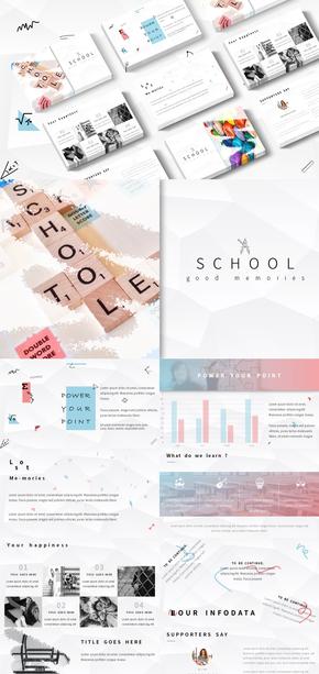 校园风格|纯净配色|教学使用|PPT模板